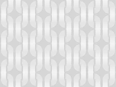 Vector seamless decorative pattern of woven square shaped bands. White repeating geometric background illustration.