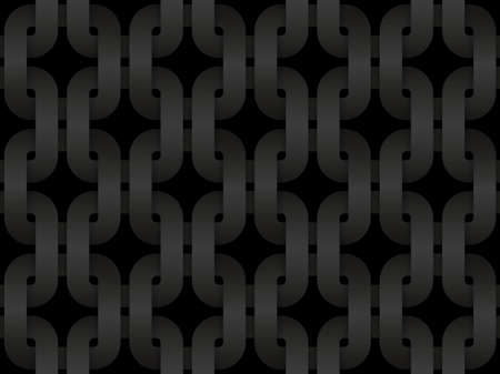Black seamless decorative pattern of woven square shaped bands. Vector dark texture repeating geometric background illustration.