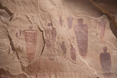 Petroglyphs in Canyonlands national park Stock Photo