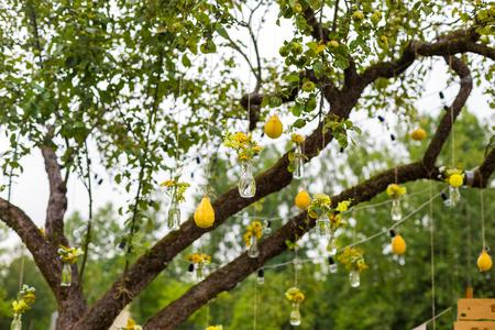 peer to peer: Wedding decorations on the tree peer yellow green