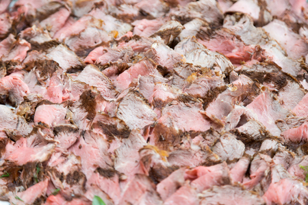 carnes: Buffet table corporate. Close up Pieces of meat