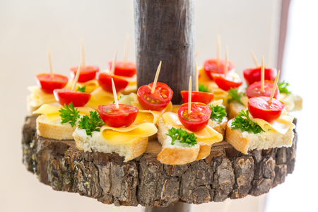 Snacks on the tree. Banquet feasts