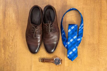 Set groom. Mens Accessories in blue