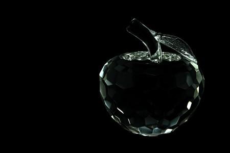 diamond: Crystal Apple on Black