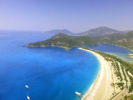 fethiye: Beautiful Oludeniz beach in Fethiye Turkey.