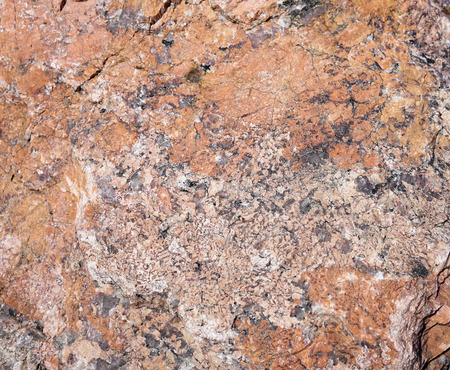 Felsic intrusive igneous rock that is granular and phaneritic in texture. Granite smooth surface. Stock Photo