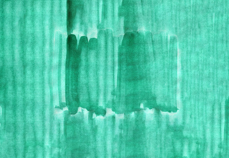 Abstract watercolor gradient hand drawn background. Template design. Green vertical strips.