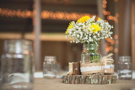Wedding reception place setting detail 2 Stock Photo