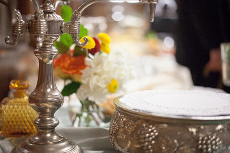 catered: Catered wedding reception with strawberries, chocolate, punch, fruit, nuts, cheese 6