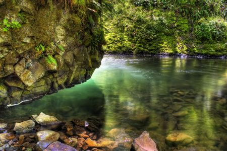 HDR of Bridal Veil Creek located on the scenic Hwy in the Columbia river Gorge
