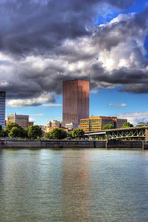 willamette: Portland Oregon looking across the Willamette River
