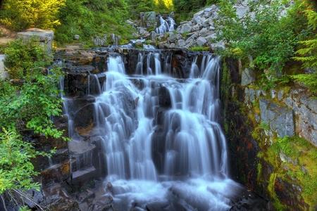 MOUNT RAINIER: Untitled forest waterfall located near Mount Rainier Washington State