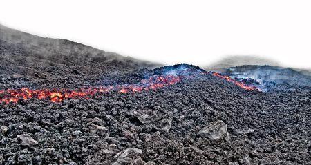 Lava on Pacaya volcano near Antigua, Guatemala