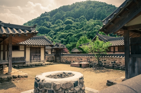 chinese courtyard: Old village in Asia