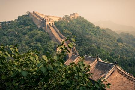 great wall: The Great Wall of China at Mutianyu