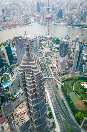 jin mao tower: The Jin Mao Tower in Shanghai
