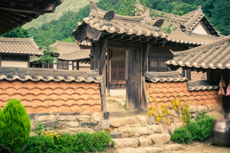folk village: The old-style houses of a folk village in Asia