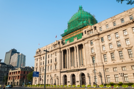 imperialism: The old colonial buildings along the Bund in Shanghai  Editorial