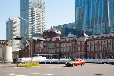 Tokyo Station is an historic landmark in the Chiyoda district of Tokyo  Photo taken September 19, 2013 in Tokyo, Japan
