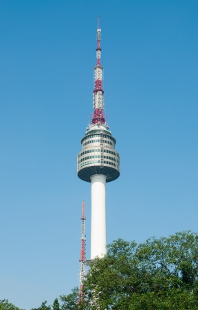 Namsan Tower, also known as North Seoul Tower, is a famous landmark in Seoul, South Korea.