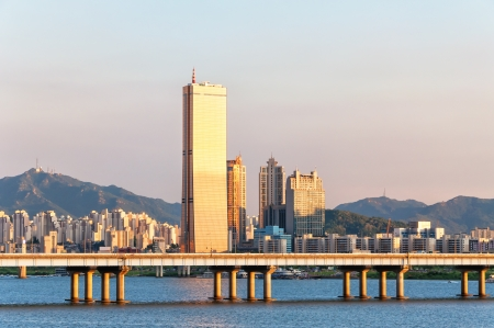 The view of Seoul from across the Han River