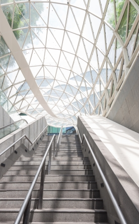 modernity: Modern architecture of a subway station in Singapore