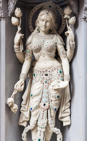 hindu god: One of the many decorative statues at Sri Krishnan Temple in Singapore
