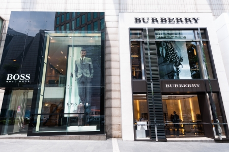 bukit: Hugo Boss and Burberry stores at the Pavilion shopping mall in Bukit Bintang. Photo taken December 26, 2013 in Kuala Lumpur, Malaysia.