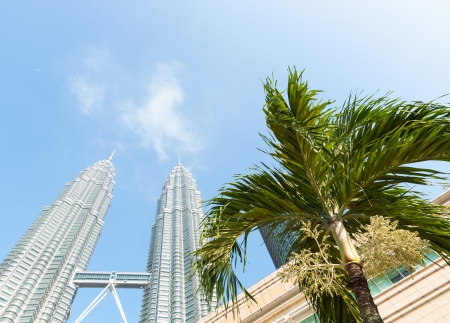 The Petronas Twin Towers in the bright morning sunlight  Photo taken December 26, 2013 in Kuala Lumpur, Malaysia