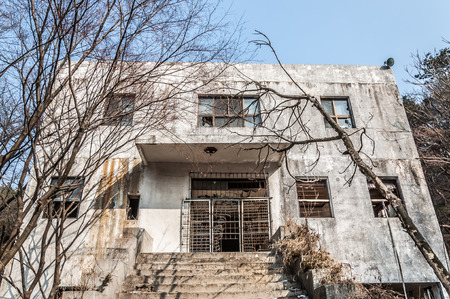 insane insanity: The exterior of Gonjiam Psychiatric Hospital in South Korea. The building was abandoned nearly twenty years ago, but never demolished.