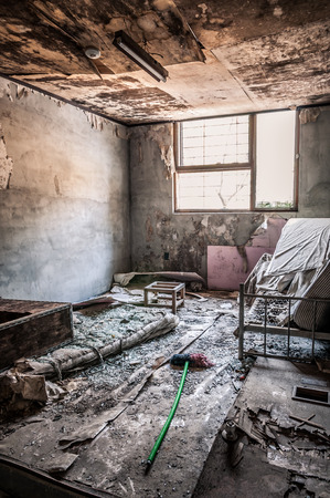 psychiatrique: L'int�rieur de l'h�pital psychiatrique Gonjiam en Cor�e du Sud. Le b�timent a �t� abandonn� il ya pr�s de vingt ans, mais jamais d�moli.