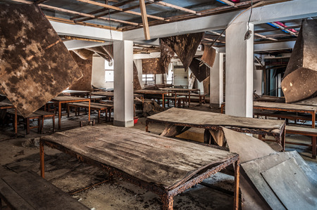 decrepit: The interior of Gonjiam Psychiatric Hospital in South Korea. The building was abandoned nearly twenty years ago, but never demolished.