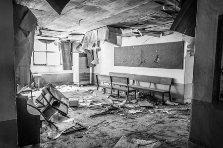 asylum: The interior of Gonjiam Psychiatric Hospital in South Korea. The building was abandoned nearly twenty years ago, but never demolished.