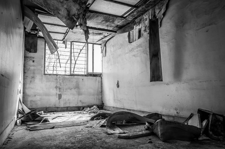 The interior of Gonjiam Psychiatric Hospital in South Korea. The building was abandoned nearly twenty years ago, but never demolished.
