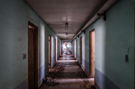 Het interieur van Gonjiam Psychiatrisch Ziekenhuis in Zuid-Korea Het gebouw werd bijna twintig jaar geleden verlaten, maar nooit gesloopt