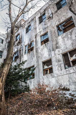 run down: The exterior of Gonjiam Psychiatric Hospital in South Korea  The building was abandoned nearly twenty years ago, but never demolished