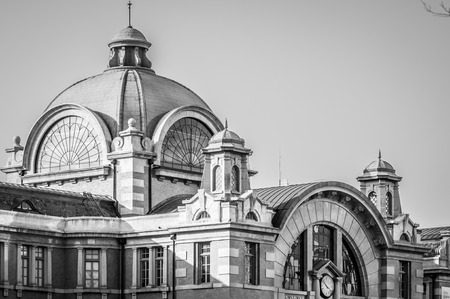The colonial architecture of the old Seoul Railway Station in\ Seoul, South Korea\