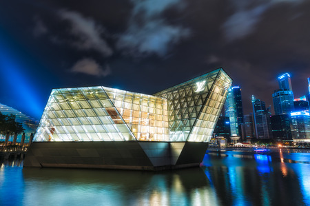 A Louis Vuitton boutique extends out into Marina Bay  Photo taken December 22, 2013 in Singapore, Singapore