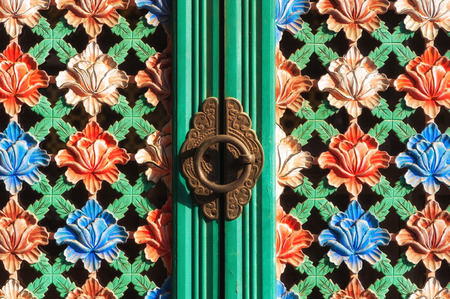 bongeunsa: Architectural detail of an ornate door at Bongeunsa Temple in Seoul, South Korea