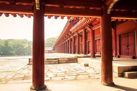 confucian: Jongmyo Shrine is a Confucian shrine in Seoul, South Korea Stock Photo