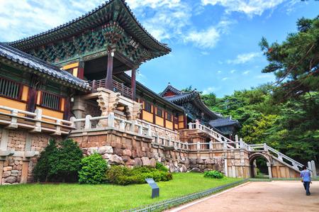 Bulguksa tempel is een van de meest beroemde boeddhistische tempels in heel Zuid-Korea Stockfoto
