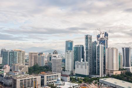 kuala lumpur city: The Kuala Lumpur skyline continues to expand under heavy construction  Stock Photo