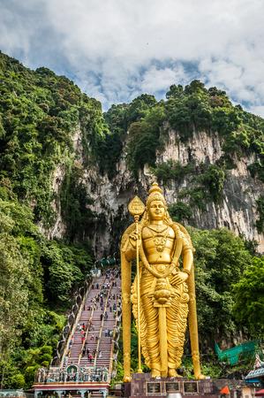 malaysia culture: The Batu Caves and the colossal statue of Lord Murugan in Kuala Lumpur, Malaysia