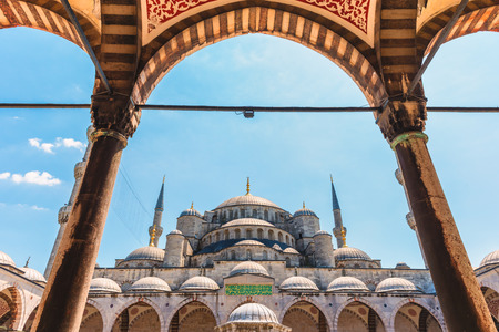 The Blue Mosque is one of the most famous landmarks in all of Istanbul  photo