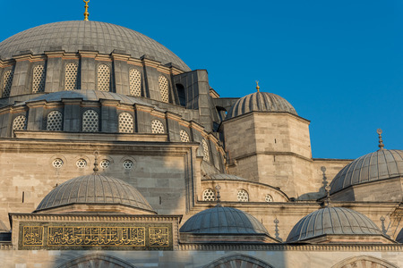 suleymaniye: Architectural detail of Suleymaniye Mosque in Istanbul, Turkey.