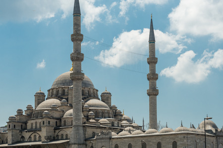cami: Architectural detail of the New Mosque (Yeni Cami) in Istanbul, Turkey. Stock Photo