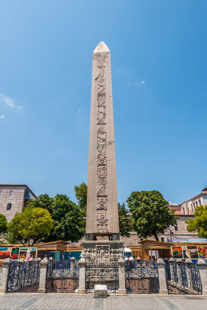 obelisk stone: The ancient Obelisk of Theodosius in the Sultanahmet district of Istanbul