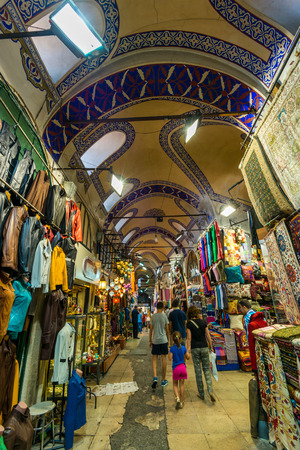 Tourists and locals mix at the Grand Bazaar on July 31, 2014 in Istanbul, Turkey.