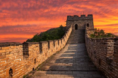 muralla china: La Gran Muralla de China en Mutianyu. Foto de archivo