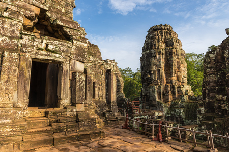 prasat bayon: Among the ruins of the Bayon within the Angkor Thom temple complex in Siem Reap, Cambodia.